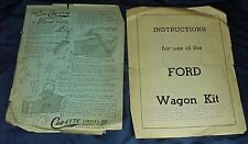 Instructions for Ford Wagon Kit 1933 Cab-ette Heater Windbreaker Ford Tractor