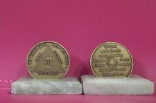 Recovery coins AA 17 Year Bronze Medallion tokens sobriety affirmation birthday