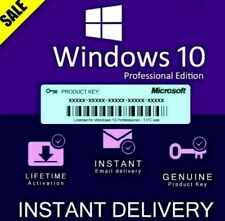 ✅Win 10 Professional 32/64 bit License Key✅🔥INSTANT DELIVERY