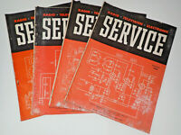 Set of 4 1948 Service Technical Journal of Radio Trade Repair Shops