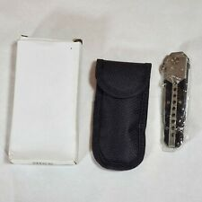Folding Pocket Knife With Clip And Pouch New KYD013