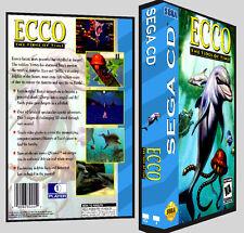 Ecco The Tides of Time - Sega CD Reproduction Art DVD Case No Game