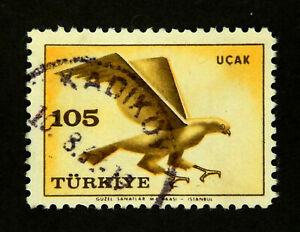 1959  TURKEY Stamp / Air Mail Scott #C34 /Birds / Used
