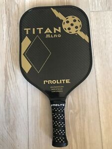 Titan Pickleball Prolite Paddle 16x 9 x 2 weighs 8.5 oz Black and Gold