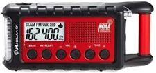 ER310, Emergency Crank Weather AM/FM Radio - Multiple Power Sources (Red/Black)