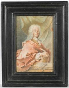 """Portrait of Christian Ulrich Grupen, Mayor of Hanover"", important German pastel"