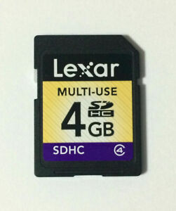 100* 4GB Lexar SD SDHC Memory Card C4 4GB Secure Digital SDHC Class 4 For Camera