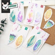 Cute Pretty Feather Sticky Notes Post-it note book Page marker memo stickers UK