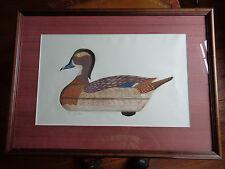 Arthur Nevin Wood Duck Hen Decoy Print, Signed 43/150 McKinnon, Tenn. 1960
