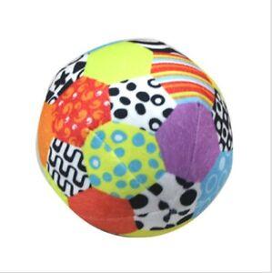 Baby Toddlers Jingle Rattle Football Soccer Ball Soft Stuffed Plush Sports Toy