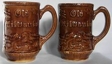Old Milwaukee beer mugs, Joseph Schlitz Brewery, Milwaukee, Wisconsin, set of 2