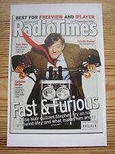 Postcard Radio Times Cover September 2010 BBC TV QI Stephen Fry motor bike cycle