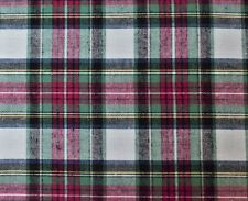 "Cotton Flannel Plaid Tartan Fabric By The Yard # 1 - 60""W"