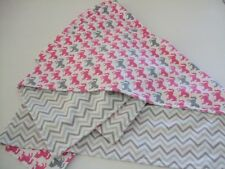 Western cowgirl horse,baby,infant,toddler flannel swaddle crib size blanket.