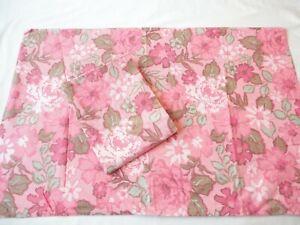 2 Pillowcases Vintage 1980's Springmaid 100%Cotton Percale Sothern Garden Print