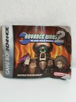 ✅ Advance Wars 2 Black Hole Rising - Game Boy Advance - Manual Only! Authentic
