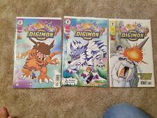 Digital Digimon Monsters - Lot of 3 comic books #2, 3, 7- Dark Horse comic book