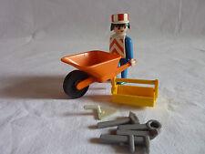 PLAYMOBIL personnage chantier travaux publics ouvrier accessoires outil brouette