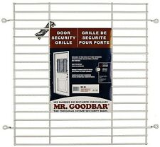 "Mr. Goodbar 27"" x 24"" White Back Door Grille Window Anti-Theft Home Security Bar"