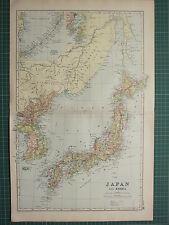 1900 GRANDE Vittoriano mappa ~ Giappone & Corea ~ NIPPON HONDO yezo Tokyo