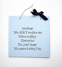 Brother Gift - Wall Plaque - Personalised Plaque - Wall Hanging