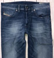 Mens DIESEL Buster Jeans W30 L32 Blue Regular Slim Tapered Wash 0831D_STRETCH