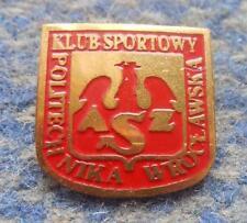 AZS POLITECHNIKA WROCLAW POLAND HANDBALL BASKETBALL CHESS 1990's PIN BADGE