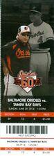 2014 Orioles vs Rays Ticket: Matt Joyce 2 HRs/Kiermaier, Forsythe, & Zobrist HRs
