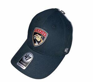 Florida Panthers '47 Brand JetBlue Mens Navy Blue Hat Cap Strapback