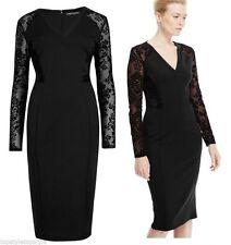Marks and Spencer Women's Floral V Neck Long Sleeve Dresses