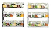 New 3 Tier Wall Mounted/Free Standing Spice Rack Holder 21 Jars Kitchen Storage