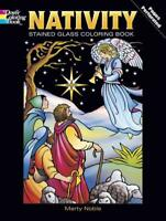 NATIVITY STAINED GLASS COLORING BOOK - NOBLE, MARTY - NEW PAPERBACK BOOK