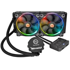 Thermaltake Agua 3.0 RGB Fans 240mm Enfriamiento Agua Sistema con RADIADOR