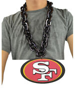New NFL San Francisco 49ers Black Fan Chain Necklace Foam Magnet - 2 in 1