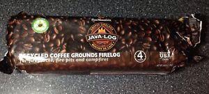 Pine Mountain Java Log Recycled Coffee Grounds Hour Time 4, Long Burning Firelog