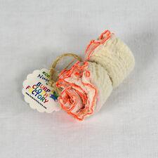 Eco-Nuschel Burp Cloth / Bib with Orange Edges | by Burp Cloth Factory