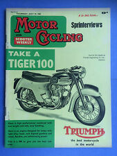 MOTOR CYCLING with Scooter Weekly - July 27, 1961 - The Parallel-Twin Crankshaft