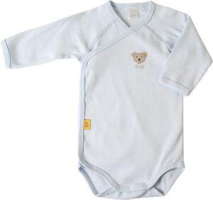 STEIFF® Baby Body/Wickelbody Langarm Hellblau Gr. 56-68 0008503-3023 NEU!