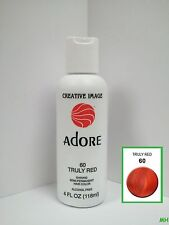 CREATIVE IMAGE ADORE SEMI PERMANENT HAIR COLOR #60 TRULY RED 4oz