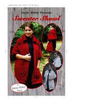 Crochet Sweater Shawl crochet shawl pattern by Annie Potter
