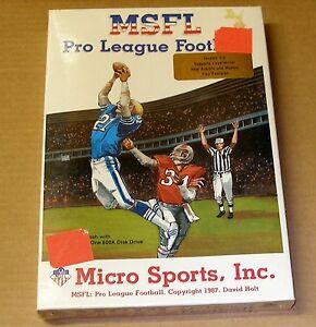 MSFL Pro League Football for Macintosh Plus, Macintosh SE, etc. - NEW