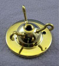 Brass 3-hook ceiling plate