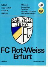OL 75/76  FC Carl Zeiss Jena - FC Rot-Weiß Erfurt