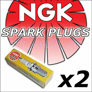 2x NGK SPARK PLUGS BP6EF 4666