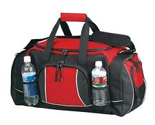 U-Shaped Zippered Closure Dual Handle Gym Sport Weekender Duffel Bag -A5719 Red
