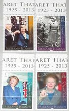 FALKLAND ISLANDS 2013 1205-08 Baroness Margaret Thatcher Death Politikerin MNH