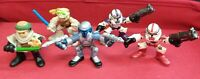 Star Wars Galactic Heroes Lot of 5 Hasbro Playskool Luke Jango Fett Shock B