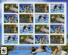Gambia 2011 Mnh Yellow-billed Stork 16v sheetlet aves Wwf