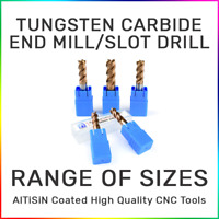 Tungsten Carbide Slot Drill 4 Flute Milling Cutter CNC Steel or Aluminium AlTiN