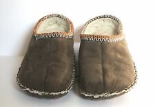 Foamtreads WOMAN'S gray/brown MULE SHOES SLIPPERS Size 8M